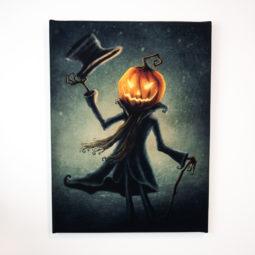 Gothic child's room canvas - Monsieur Pumpkin