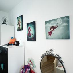 Gothic child's room canvas - Wolfkäppchen