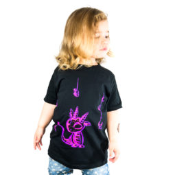 Gothic Kinder & Baby T-Shirt - Giftdrache Violett
